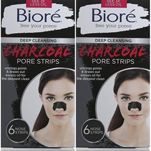 Biore Deep Cleansing Charcoal Pore Strips 6 Count Double Pack