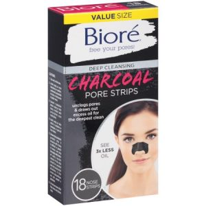 BIORE Deep Cleansing Charcoal Nose Pore Strips 18 Count
