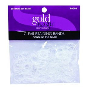 Gold Magic 250 Clear Elastic Braiding Bands 80096