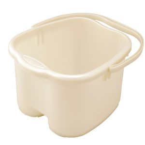 Inomata Pearl Foot Detox Massage White Spa Bucket
