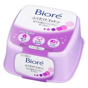 Biore Kao Makeup Removing Cotton Sheet Box 46 Count