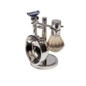 Harry D Koenig Attractive 4 Piece Silver Shave Set