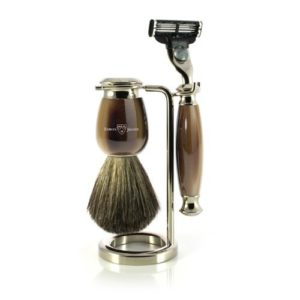 Edwin Jagger Simulated Horn Plus Nickel Shaving Set