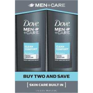 Dove Men Plus Care Clean Comfort Twin Pack