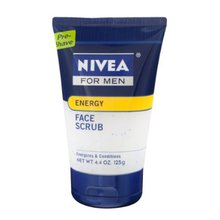 Nivea 4-Pack Energy Face Scrub Pre-shave Tubes