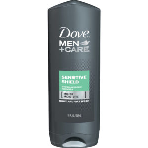 Dove Men Care Body Plus Face Wash Sensitive Shield