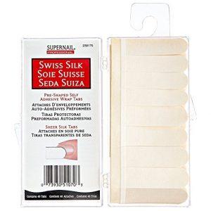 Supernail Swiss Silk Wrap Self-Adhesive Tabs 40 Counts