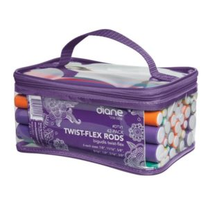 Diane 42-pack Twist-flex Rods Plus Clear Zip Carrying Case