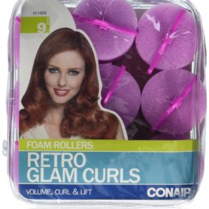 Conair Big Retro Glam Curl Foam Rollers 9 Count
