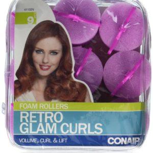 Conair Big Retro Glam Curl Foam Rollers 9 Count