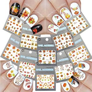 LA DEMOISELLE Thanksgiving Theme Nail Art Decals 10 Pack