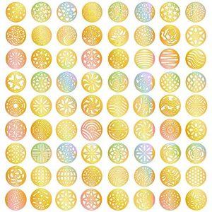 eBoot Gold Nail Vinyls Nail Stencil Sticker Sheets Set