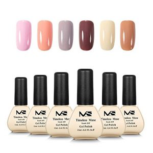MelodySusie Six Colors Long Lasting Gel Nail Polish Set