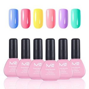 MelodySusie Six Colors Gel Nail Polish Easy Soak Off Set