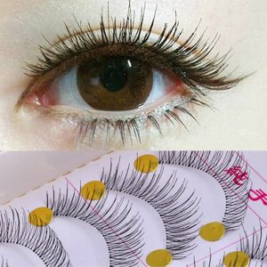 EFERO Ten Pairs Reusable Natural Long Artificial Eyelashes