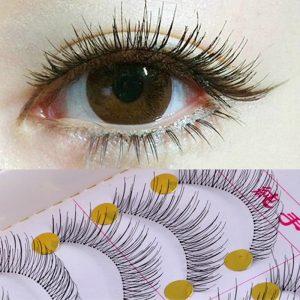 EFERO Ten Pairs Reusable Natural Long Artificial Eyelashes