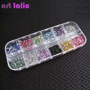 ART LALIC Rhinestones Round Colorful Glitters DIY Nail Art Decoration