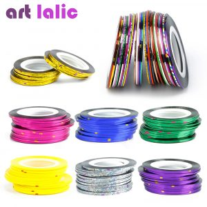 ART LALIC Rolls Striping Tape Line Nail Art Decoration Sticker