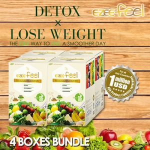 EZEE FEEL 4 Boxes Bundle Detox X Loose Weight