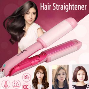 TIME Ceramic Heating Plate Mini Travel Hair Straightener