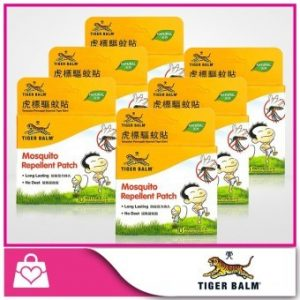 TIGER BALM 8001464 Mosquito Repellent Patches 10 Pieces X 6 Packs