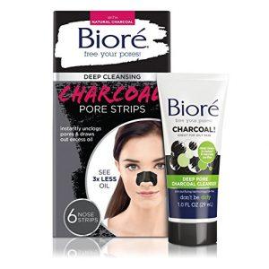 BIORE Charcoal Nose Pore Strips Plus Mini Pore Cleanser