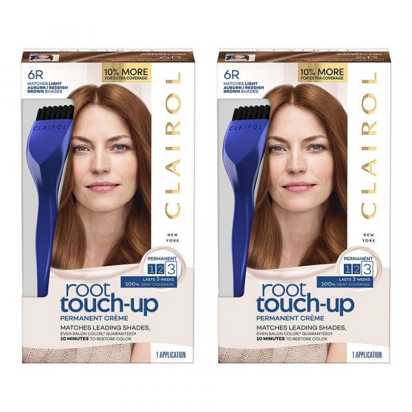 CLAIROL Permanent Creme 6R Light Auburn Brown 2 Count