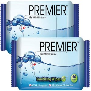 PREMIER Antibacterial Sanitizing Wipes Twin Pack