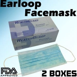 HEALTHGUARD Premium Ear Loop Face Bluish Mask