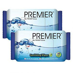 PREMIER Twin Pack Hygienic Sanitizing Moist Wipes